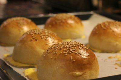Hausgemachte Hamburger Brötchen (Buns)